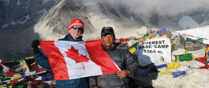 Treks and Travels, featuring a member led presentation about a trek to Everest Base Camp