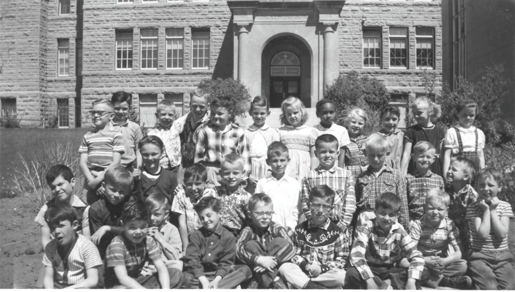 King Edward Grade 3 Class (1958) Photo shared by Hans Klassen (Pictured: First row, second last on the right)