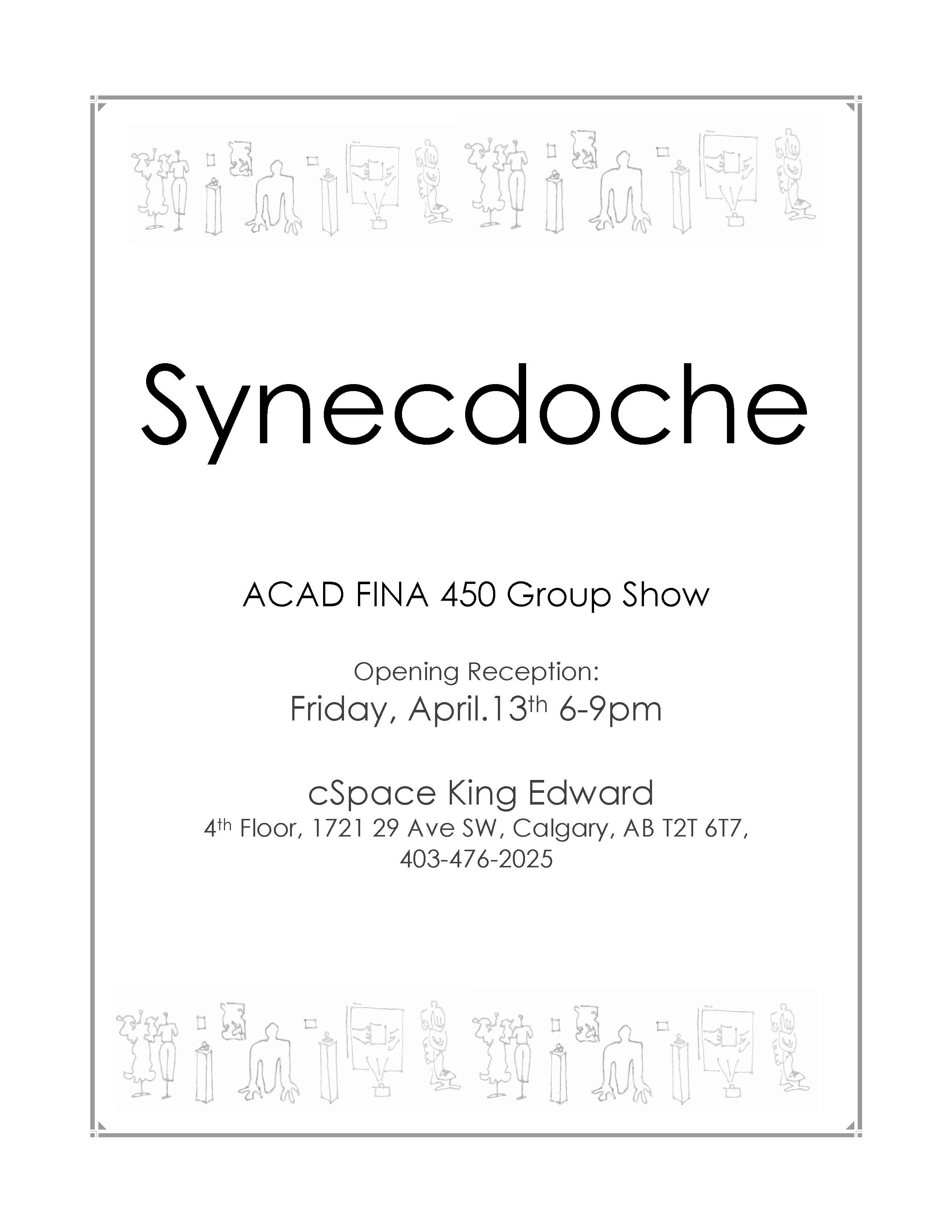 synecdoche an acad fourth year group show cspace